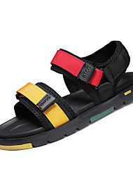 cheap -Men's Marten Sandals Spring & Summer Casual Daily Outdoor Sandals Elastic Fabric Breathable Non-slipping Height-increasing Black / Rainbow / Gray