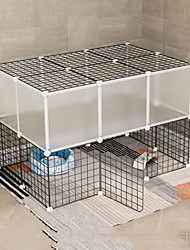 cheap -Dog Playpen Play House Fence Systems Foldable Washable Durable Free Standing Plastic Metal Black 26pcs