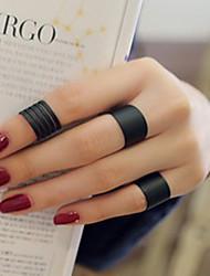 cheap -Ring Black Alloy Elegant Holiday European 1 set Adjustable / Women's