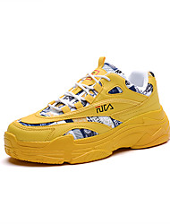 cheap -Men's Synthetics Fall / Spring & Summer Trainers / Athletic Shoes Running Shoes / Walking Shoes Breathable Yellow / White / Beige