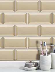 Недорогие -20x10cmx9pcs бежевый мрамор наклейки на стены ретро маслостойкие водонепроницаемый плитка обои для кухни ванная комната земляной стены украшения дома