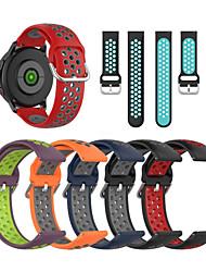Недорогие -22мм силиконовый ремешок для часов ремешок для LG часы W100 / W110 / W150