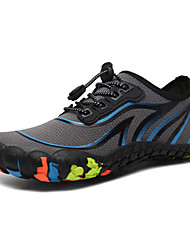 cheap -Men's Fall / Spring & Summer Sporty / Casual Daily Outdoor Trainers / Athletic Shoes Hiking Shoes / Upstream Shoes Mesh Breathable Non-slipping Shock Absorbing Dark Blue / Gray Color Block