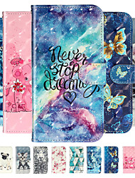 cheap -Case For Huawei P30 Pro Huawei P30 lite Phone Case PU Leather Material 3D Painted Pattern Phone Case for Huawei P20 Pro P20 lite