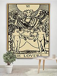 Недорогие -новый колдовство гобелен таро гобелен гобелен солнце луна гвоздики колдовство поставки психоделический бохо декор настенные ткани tapiz4