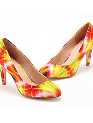 cheap -Women's Heels Stiletto Heel Pointed Toe PU Spring & Summer Yellow / Orange / Coffee