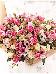 cheap -Lai Roses  Home Decoration Eternal Roses Wedding Atmosphere Decoration Holding Flowers 1 Bouquet 30cm