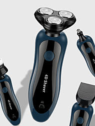 cheap -4 In 1 Razor Electric Shaver Usb Rechargeable 3 Blades Portable Beard Nose Hair Trimmer Cutting Machine