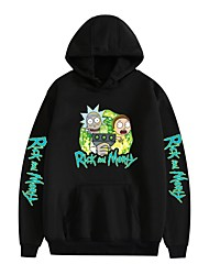 cheap -Inspired by Rick and Morty Dali Cosplay Costume Hoodie Pure Cotton Print Printing Hoodie For Men's / Women's