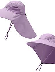 Недорогие -Рыбалка Шляпа Шляпа рыбака Шляпа для туризма и прогулок Кепка 1 ед. Компактность Защита от солнечных лучей Устойчивость к УФ Дышащий Сплошной цвет Полиэстер Осень Весна Лето для Муж. Жен.