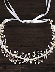 cheap -Women's Headbands Hair Jewelry For Wedding Engagement Party Birthday Wedding Alloy White 1pc
