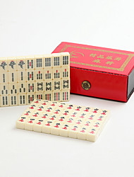 cheap -Leather Boxed Poketable Travel Mini Mahjong with Ruler