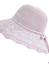 cheap -Hiking Hat Fishing Hat Fisherman Hat Hat 1 PCS Portable Sunscreen UV Resistant Breathable Solid Color Cotton Autumn / Fall Spring Summer for Women's Camping / Hiking Hunting Fishing Pink Grey