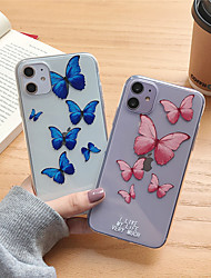 cheap -Case For Apple iPhone 11 11 Pro 11 Pro Max UButterfly TPU material painted technology scratch-resistant mobile phone case