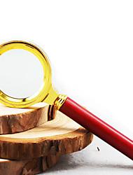 Недорогие -36 мм диаметр металлический каркас деревянная ручка лупа лупа для чтения