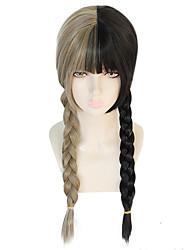 Недорогие -ГАГА ЛЕДИ Косплэй парики Жен. тесьма Прямая челка 26 дюймовый Термостойкое волокно переплетенный Черный Черный Аниме