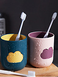 cheap -400ml Cloud Shape Creative Cartoon Mouthwash Cup Toothbrush Cup Couple Brushing Teeth Household Plastic Wash Cup Set