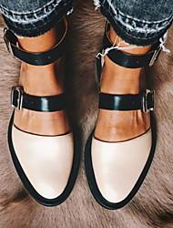 cheap -Women's Flats Flat Heel Round Toe PU Spring & Summer Pink / White / Black