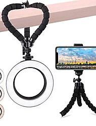 cheap -6.3inch Dimmable LED Ring Light TikTok Light Youtube Video Camera Photography Tripod Selfie Stand 3 Light Color 10 Level Brightness Fill Lamp 1 set
