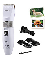 Недорогие -Уход Машинка для стрижки волос Набор инструментов Pet Hair Remover Стрижка машинки для стрижки Без шнура пластик Машинки для стрижки и триммеры Компактность Электрический Животные