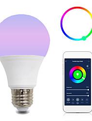 Недорогие -1шт 10 W Круглые LED лампы Умная LED лампа 700 lm B22 E26 / E27 A60(A19) 12 Светодиодные бусины Контроль APP Smart синхронизация Multi-цветы 85-265 V