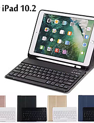 cheap -Case For iPad 10.2 Case Ultra thin Detachable Wireless Bluetooth Keyboard Case cover For iPad 7th Generation