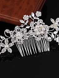 cheap -Women's Hair Combs Hair Jewelry For Wedding Birthday Wedding Alloy Silver Golden 1pc