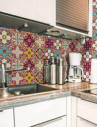 cheap -Creative Kitchen Oil-proof and Waterproof Tile Sticker Self-adhesive Removable Moroccan Style Environmental Protection Pvc Wall Sticker