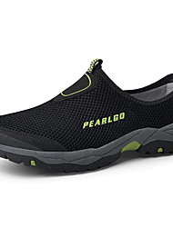 cheap -Men's Summer Sporty / Classic Daily Outdoor Trainers / Athletic Shoes Hiking Shoes / Upstream Shoes Mesh Breathable Non-slipping Black / Khaki / Blue