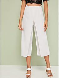 Недорогие -широкие брюки женские широкие свободные брюки случайные вертикальные мягкие плиссированные брюки брюки Femme