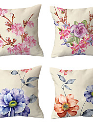 cheap -Set of 4 Throw Pillow Simple Classic 45*45 cm Cushion Vintage Circle Cover Sofa Home Decor Throw Pillow Case