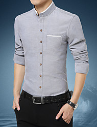 cheap -Men's Daily Work Business / Basic Shirt - Plaid White