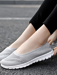 cheap -Women's Loafers & Slip-Ons Flat Heel Round Toe Mesh Sporty / Minimalism Walking Shoes Spring & Summer Light Purple / Blue / Black