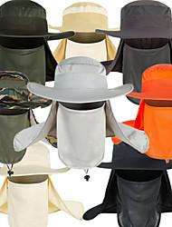 Недорогие -Взрослые Панамы Шляпа рыбака Кепка Весна, осень, зима, лето на открытом воздухе Для рыбалки Полиэстер УФ-защита от солнца Защита от комаров Защитная безопасность Шапки / Жен. / Муж. / камуфляж