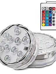 Недорогие -2 шт. 13 светодиодов RGB погружной свет с батарейным питанием бассейн подводный ночник ваза свадьба праздник сад праздновать