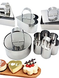 cheap -1pcs Mousse Circle Stainless Steel Cake Mold With Push Plate Pressure Rice Ball Sushi Tool DIY