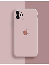 Недорогие -Кейс для Назначение Apple iPhone 11 / iPhone 11 Pro / iPhone 11 Pro Max Защита от удара / Защита от пыли / С узором Кейс на заднюю панель Композиция с логотипом Apple / Плитка / Однотонный