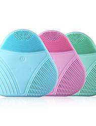 Недорогие -высокое качество чистящая щетка для лица звуковая вибрация чистка лица силиконовая глубокая очистка пор электрический водонепроницаемый массаж мягкий
