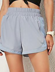cheap -Women's Sporty Loose Shorts Pants - Solid Colored Black Blue Red S / M / L