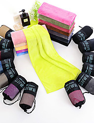 cheap -Microfiber Sports Towel Travel Towel Gym Towel Men's Women's Hand Towel Sweat Towel Solid Colored Lightweight Quick Dry Super Absorbent for Home Workout Running Fitness Autumn / Fall Spring Summer