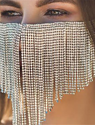 cheap -Alloy Face Chain Crystal / Rhinestone Style Decoration Half Face For Party Evening Holiday Luxury Boho Silver Golden / Women's