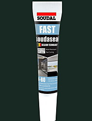 cheap -Soudal Glass Glue A Grade Mildew Proof Black Neutral Kitchen And Bathroom Seal Structure Glue White Transparent Upgrade Version