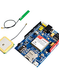 cheap -SIM808 GPRS GSM GPS 2 in 1 Shield Development Board BT Quad-Band replace SIM928