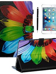 Недорогие -кейс&усилитель; Стилус&усилитель; 1шт защита экрана для Apple Ipad Pro 11'2018 / новый воздух (2019) /10.2''(2019)/10.5 с подставкой / флип / ультратонкая задняя крышка красочный цветок