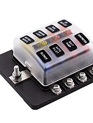 Недорогие -Автоматические автоматические выключатели 32v / блок предохранителей 1 в 8 с винтовой клеммной колодкой со светодиодным индикатором / двойной предохранитель / материал для защиты окружающей среды
