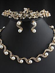 Недорогие -женский кулон ожерелье корона современный негабаритный хром розовое золото золото серебро 50 см ожерелье ювелирные изделия 1 шт. для ежедневного уличного клуба