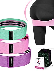 cheap -Booty Bands Resistance Bands for Legs and Butt Sports Latex silk Home Workout Yoga Pilates Extra Wide Stretchy Flexible Thick Anti Slip Durable Helps to Lift, Tighten and Reshape the Plump Buttock