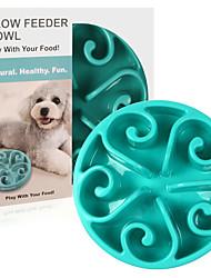 cheap -L Cat Dog Bowls & Water Bottles Pet Bowls & Feeding Durable Purple Red Green Blue