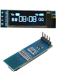 cheap -0.91 Inch 128x32 IIC I2C Blue OLED LCD Display DIY Oled Module SSD1306 Driver IC DC 3.3V 5V For PIC