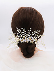 cheap -Vintage Fashion Imitation Pearl / Cubic Zirconia / Alloy Headbands with Rhinestone / Imitation Pearl / Crystals 1pc Wedding / Party / Evening Headpiece
